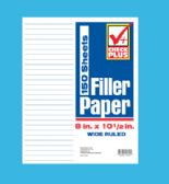 36 Units of FILLER PAPER 150 SHEET 8 X 10.5 INCH WIDE RULE - PAPER