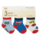 48 Units of Boys' 3-Pack Infant Socks - Baby Apparel