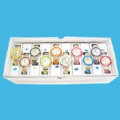 10 Units of LADIES BANGLE WATCH ROUND LARGE STLYE C ASST COLORS IN DISPLAY