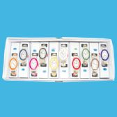 10 Units of LADIES BANGLE WATCH OVAL ASSORTED COLORS IN DISPLAY