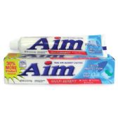 24 Units of AIM TOOTHPASTE 5.5 OZ CAVITY PROTECTION MINT GEL - Toothbrushes and Toothpaste