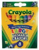 24 Units of CRAYOLA LARGE WASHABLE CRAYONS 8 COUNT - Chalk,Chalkboards,Crayons