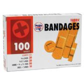 60 Units of BANDAGES 100 COUNT FABRIC ASSORTED SIZES