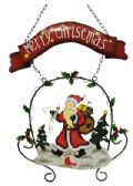 24 Units of HANGING HAND PAINTED CHRISTMAS DECORATION 26 INCH (INCLUDING HANGING CHAIN) - Christmas Decorations