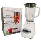 4 Units of BRENTWOOD 12 SPEED+PULSE BLENDER 50 OUNCE WHITE CETL LISTED - Kitchen Gadgets & Tools