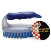 48 Units of HIGH QUALITY SCRUB BRUSH 4.5 INCH WITH RUBBER HANDLE - Brushes