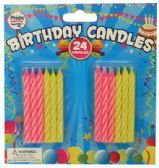 72 Units of BIRTHDAY CANDLES 24 COUNT 2.5 INCH ASTD COLORS - Birthday Candles