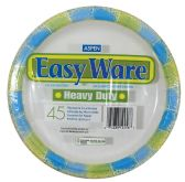 12 Units of EASY WARE PRINT DESIGN 9 45CT HEAVY DUTY PAPER PLATE MICROWAVE SAFE GREASE RESISTANT - Dinnerware > Plates