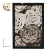 36 Units of PLASTIC PHOTO FRAME 4 X 6 INCH BLACK/WHITE - Photo Frame
