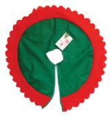 36 Units of CHRISTMAS TREE SKIRT 24 INCH FELT - Christmas Decorations
