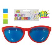 48 Units of GIANT PARTY GLASSES 10 INCH ASSORTED COLORS - Novelty & Party Sunglasses