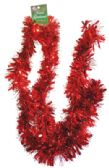 48 Units of TINSEL GARLAND 80 X 4 INCH RED - Streamers/Confetti/Whirlers