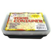36 Units of FOOD CONTAINER 18 OUNCE RECTANGULAR MICROWAVABLE 4 PACK 2 CONTAINERS + 2 LIDS
