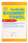 36 Units of SHAMMY 3 PACK 14 X 20 INCH SYNTHETIC