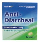 24 Units of ANTI DIARRHEAL CAPLETS 12 CT 2 MG COMPARE TO IMODIUM A-D EXP 12/2018