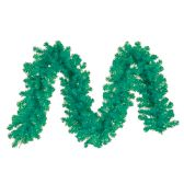 48 Units of CHRISTMAS TINSEL GARLAND 80 X 4 INCH GREEN - Christmas Decorations
