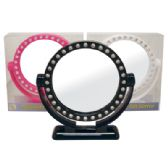 12 Units of FASHION MIRROR 7 INCH ADJUSTABLE - Cosmetic Mirrors
