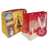 30 Units of CHRISTMAS GIFT BAG MEDIUM ASSORTED DESIGNS PREPRICED $1.00 - Christmas Gift Bags and Boxes