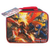 12 Units of LUNCH BAG CAPTAIN AMERICA BLACK