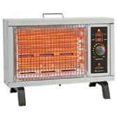 COMFORT ZONE RADIANT HEATER 1500 WATTS UP TO 1200 SQ FT FAN FORCED 2 HEAT SETTINGS ADJUSTABLE THERMOSTAT ETL APPROVED - Electric Fans