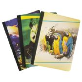 48 Units of COMPOSITION NOTEBOOK 80 SHEETS 9.5 X 7 .5 INCH ASSORTED WILDLIFE COLLECTION