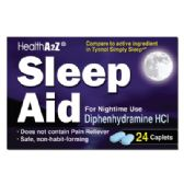 24 Units of SLEEP AID 24 COATED CAPLETS DIPHENHYDRAMINE HCL 25 MG COMPARE TO SIMPLY SLEEP