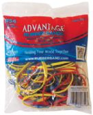 90 Units of ADVANTAGE RUBBER BANDS 2 OZ ASSORTED SIZES AND COLORS MADE IN USA - Rubber Bands