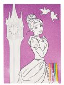 72 Units of FROZEN/PRINCESS COLORING SHEET SET 2 PC 11 X 15 INCH + 5 MARKERS PREPRICED $1