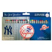 36 Units of NY YANKEES CRAYONS 24 PACK - Chalk,Chalkboards,Crayons