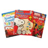 60 Units of ACTIVITY BOOK ASSORTED DESIGNS PREPRICED $3.99 - Coloring Books