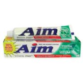 24 Units of AIM TOOTHPASTE 5.5 OZ WHITENING WITH BAKING SODA FRESH MINT MADE IN USA - Health / Beauty