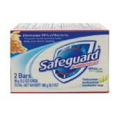 24 Units of SAFEGUARD BAR SOAP 2 PK 3.2 OZ EACH ANTIBACTERIAL WITH ALOE