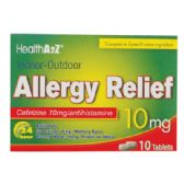 24 Units of ALLERGY RELIEF TABLETS 10 CT 10 MG COMPARE TO ZYRTEC EXP 10/2017