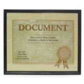 24 Units of DOCUMENT/CERTIFICATE FRAME 8.5 X 11 INCH - Picture Frames