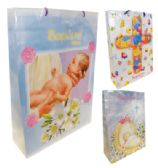 36 Units of GIFT BAG SUPER JUMBO 17x22x6 BAPTISM ASSORTED DESIGNS
