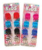 144 Units of GIRLS CLAW CLIPS 8 PC 0.5 INCH ASSORTED COLORS