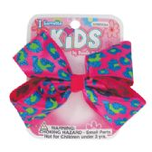 144 Units of GIRLS SATIN BARRETTE 4 INCH BOW DESIGN - Hair Accessories