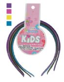 144 Units of GIRLS HEADBAND 4 PK WITH TEETH ASSORTED GLITTER COLORS - Hair Scrunchies