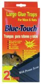 48 Units of BLUE TOUCH GLUE TRAP 2 PK LARGE MOUSE AND RAT PEANUT SCENT - Pest Control