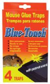 48 Units of BLUE TOUCH GLUE TRAP 4 PACK MOUSE AND RAT PEANUT SCENT - Pest Control