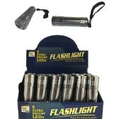 48 Units of 9 LED FLASHLIGHT 3.5 IN IN DISPLAY BATTERIES NOT INCLUDED - Flash Lights