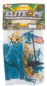 24 Units of PLASTIC ARMY 20 PIECE SET TANKSOLIDERS AND FLAG - Action Figures & Robots