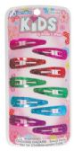 144 Units of GIRLS BARRETTE 10 PK 2 IN ASSORTED GLITTER COLORS