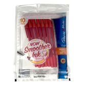 48 Units of PAPERMATE MEDIUM RED PENS 10CT 1.0MM - Pens