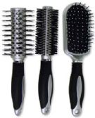 60 Units of PLASTIC HAIRBRUSH 9 IN 6 ASSORTED SHAPES - Hair Brush