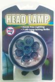 24 Units of HEAD LAMP 7 LED 3.25 IN - Lamps and Lanterns