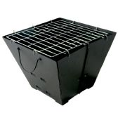 CHARCOAL GRILL PORTABLE 14 X 14 INCHES - Bbq Supply