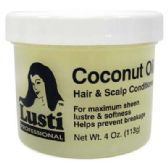 24 Units of LUSTI PROFESSIONAL COCONUT OIL 4 OZ MADE IN USA - Hair Products