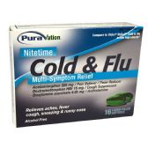 24 Units of NIGHTTIME COLD AND FLU SOFTGELS 16CTCOMPARE TO VICKS NYQUIL - Personal Care Items