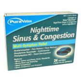 24 Units of NIGHTTIME SINUS AND CONGESTION SOFTGELS 24CTCOMPARE TO VICKS QLEARQUIL - Personal Care Items